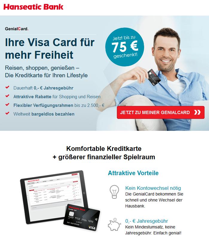 Girokonto Comdirect Dkb Und Norisbank Im Vergleich: Hanseatic Bank GenialCard: Kreditkarten Vergleich